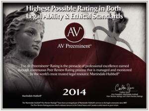 AV Preeminent Lawyer