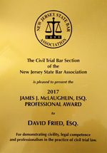 David M. Fried - James McLaughlin Award