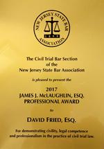 David M. Fried - James McLaughlin Award