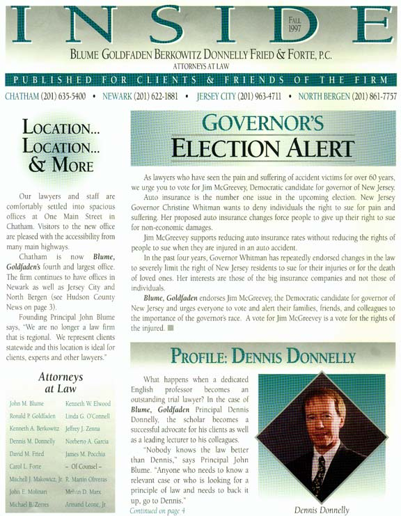 Governor's Election Alert