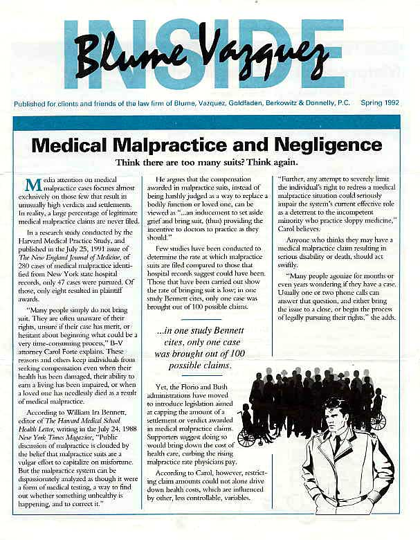 Medical Malpractice and Negligence Claims