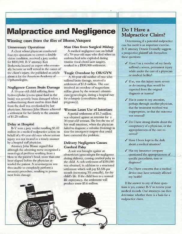 Malpractice & Negligence Claims