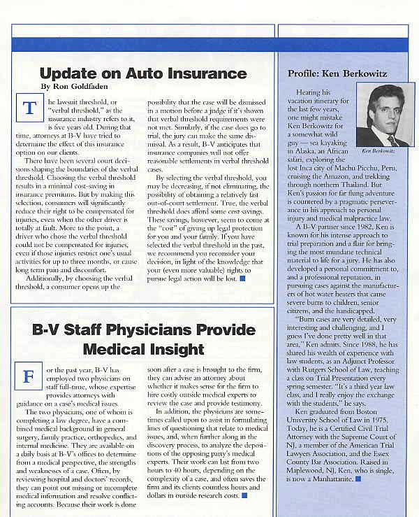 Auto Insurance Update - Ron Goldfaden