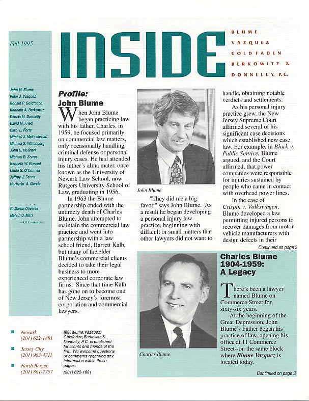 John Blume & Charles Blume Profiles
