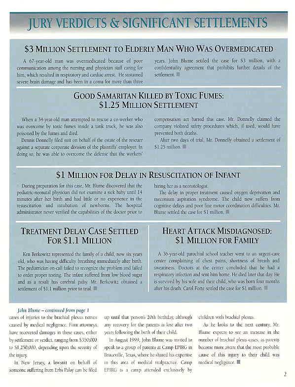 Significant Verdicts